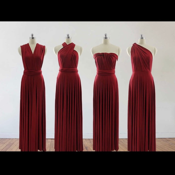 choose authentic harmonious colors pretty cool Wine colored infinity dress